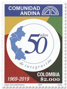 n°2036 - Timbre COLOMBIE Poste