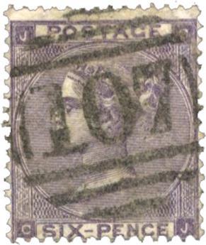 n°22 obl. TB - Timbre GRANDE-BRETAGNE Poste