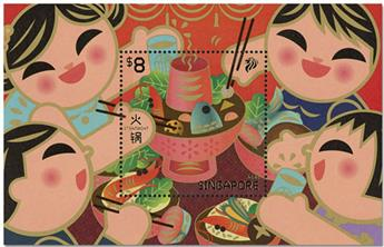 n° 213 - Timbre SINGAPOUR Blocs et feuillets