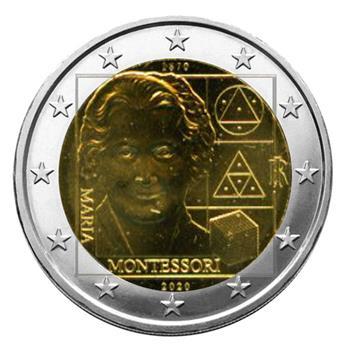 2 EURO COMMEMORATIVE 2020 : ITALIE (150 ans de la naissance de Maria Montessori)