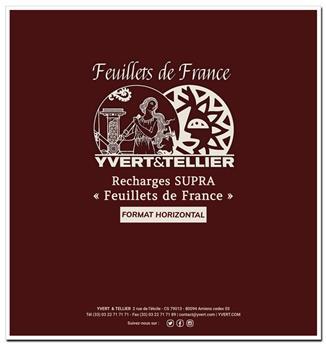 """Pages horizontales """"SUPRA FEUILLETS DE FRANCE """" : blanc avec cadre (x10)"""