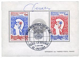 n°8 obl. - Timbre FRANCE Blocs et Feuillets