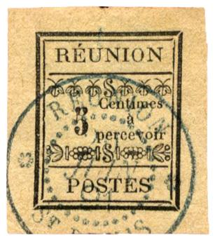 n°1 obl. - Timbre REUNION Taxe