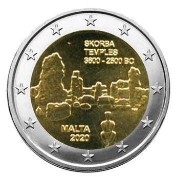 2 EURO COMMEMORATIVE 2020 : MALTE (Temples de Skorba)