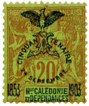 n°74* - Timbre NOUVELLE CALEDONIE Poste