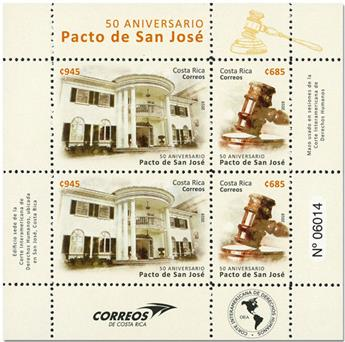 n° 1009/1010 - Timbre COSTA RICA Poste