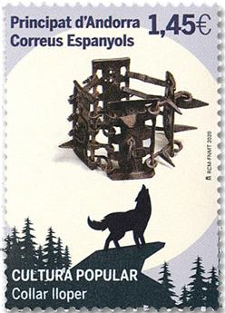 n° 483 - Timbre ANDORRE ESPAGNOL Poste