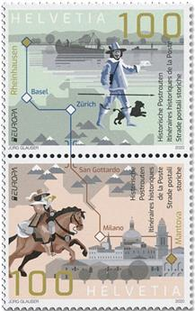 n° 2585/2586 -  Timbre SUISSE Poste