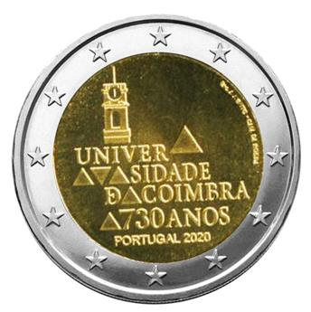 2 EURO COMMEMORATIVE 2020 : PORTUGAL (730 ans Université de Coimbra)