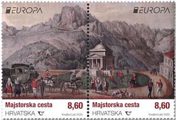 n° 1353/1354 - Timbre CROATIE Poste