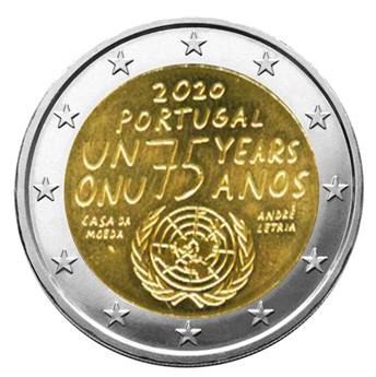 2 EURO COMMEMORATIVE 2020 : PORTUGAL (75 ans ONU)