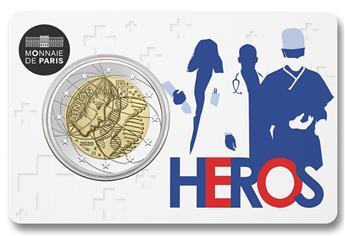 BU : 2 EURO COMMEMORATIVE 2020 : FRANCE (RECHERCHE MEDICALE - HEROS)