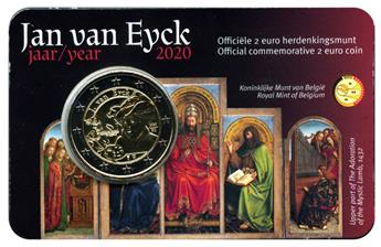 BU : 2 EURO COMMEMORATIVE 2020 : BELGIQUE -  JAN VAN EYCK (Version flamande)