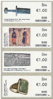 n° 123/126 - Timbre IRLANDE Timbres de distributeurs