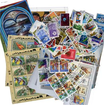 EUROPE: ONU 3 bureaux -  timbres obl.