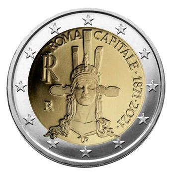 2 EURO COMMEMORATIVE 2021 : ITALIE (150 ans de Rome capitale de l´Italie)
