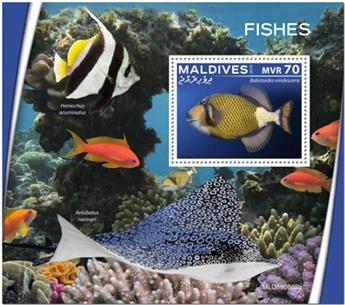 n° 1383 - Timbre MALDIVES Blocs et feuillets