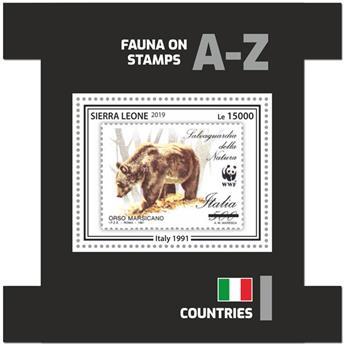 n° 1810 - Timbre SIERRA LEONE Blocs et feuillets