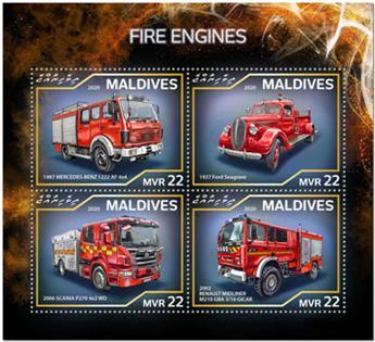 n° 7386/7389 - Timbre MALDIVES Poste