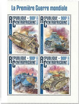 n° 6484/6487 - Timbre CENTRAFRICAINE Poste