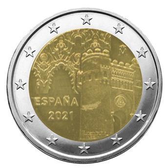 2 EURO COMMEMORATIVE 2021: ESPAGNE (Vieille ville de Tolède)