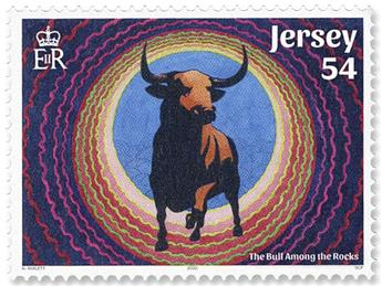 n° 2520/2525 - Timbre JERSEY Poste
