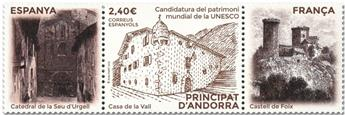 n° 493 - Timbre ANDORRE ESPAGNOL Poste