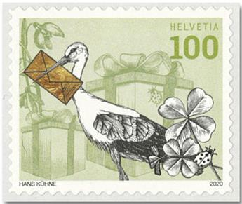 n° 2589/2592 - Timbre SUISSE Poste