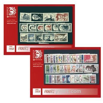n° 863/1229 -  Timbre France Année complète (1950/1959)