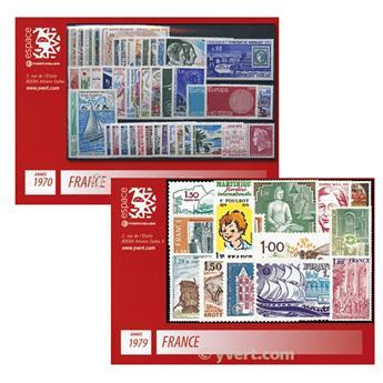 n° 1621/2072 -  Timbre France Année complète (1970/1979)