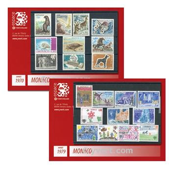 n° 1970-1979 -  Selo Mónaco Ano completo
