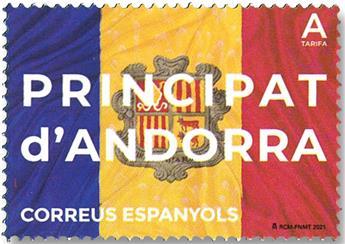 n° 495 - Timbre ANDORRE ESPAGNOL Poste
