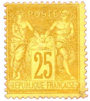 n°92(*) - Timbre FRANCE Poste