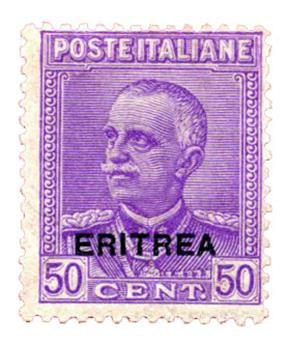 n°130* - Timbre ERYTHREE Poste