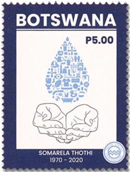n° 1257/1258 - Timbre BOTSWANA Poste