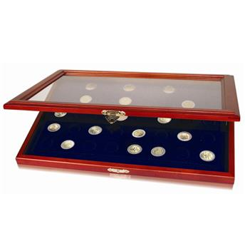 Vitrine en bois pour 40 pièces de 2€ commémoratives (SAFE)