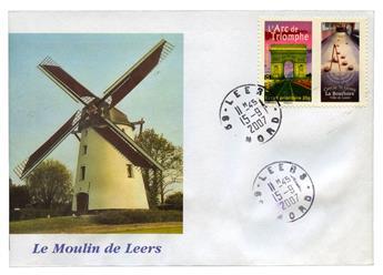 n°113A obl. sur lettre  - Timbre FRANCE Autoadhésifs
