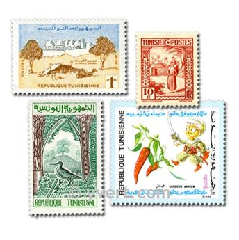 TUNISIA: envelope of 300 stamps