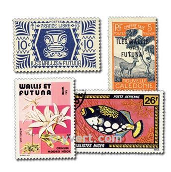 WALLIS E FUTUNA: lote de 50 selos