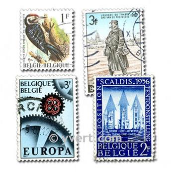 BÉLGICA: lote de 200 sellos