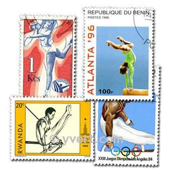 GYMNASTICS: envelope of 50 stamps