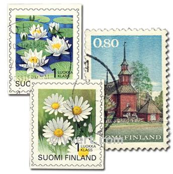 FINLAND: envelope of 100 stamps