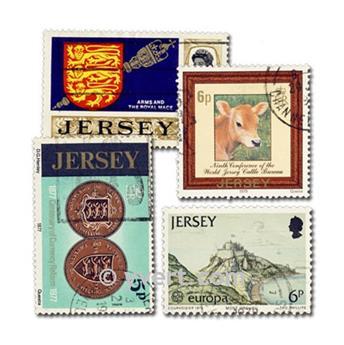 JERSEY: lote de 25 sellos