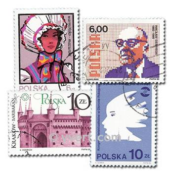 POLAND: envelope of 500 stamps