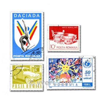 ROMANIA: envelope of 500 stamps