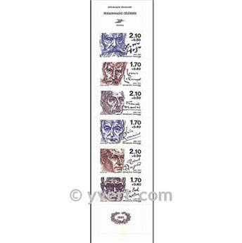 nr. BC2360A -  Stamp France Famous Figures Booklet panes