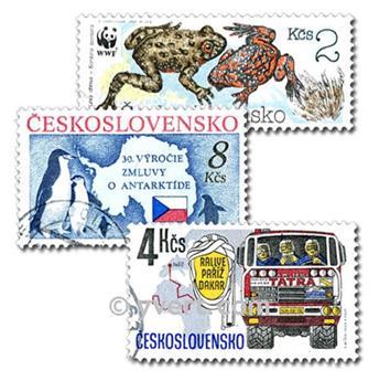 CHECOSLOVAQUIA: lote de 300 sellos