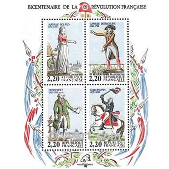 n.o 10 -  Sello Francia Bloque y hojitas