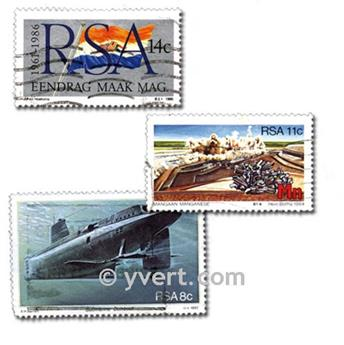 AFRIQUE DU SUD : pochette de 100 timbres