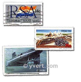 ÁFRICA DO SUL: lote de 100 selos
